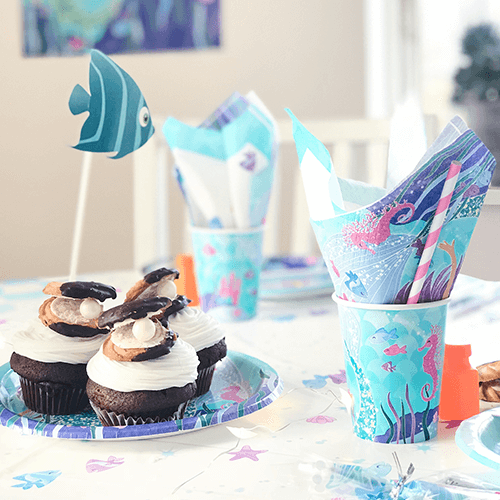 Mermaid-3 Detvier Børnefødselsdag temafest