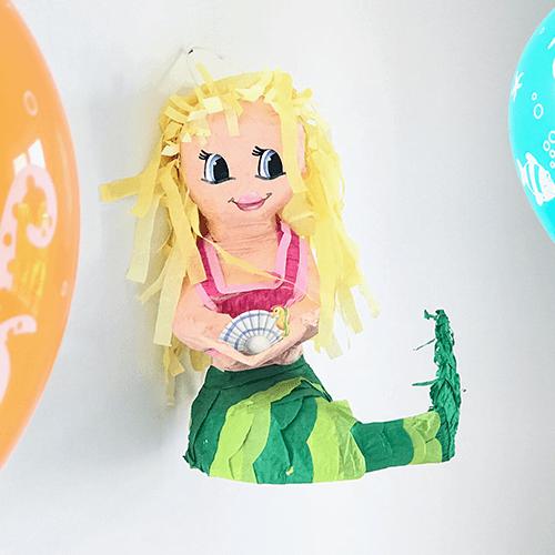 Mermaid-4 Detvier Børnefødselsdag temafest