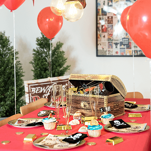 Pirat-2 Detvier Børnefødselsdag temafest