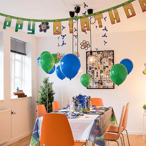 Science-1 Detvier Børnefødselsdag temafest