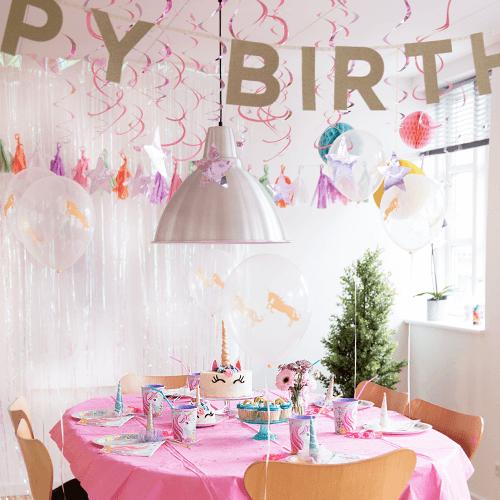 Unicorn-2 Detvier Børnefødselsdag temafest