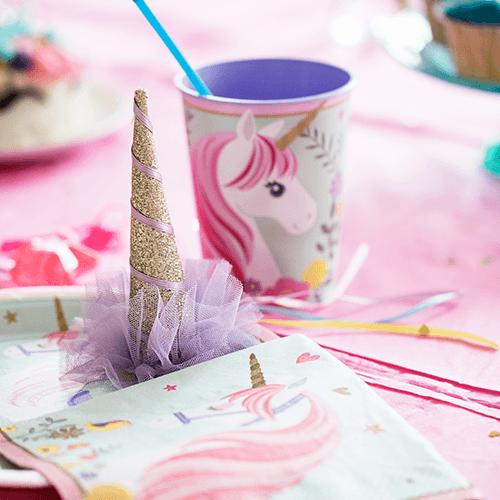Unicorn-9 Detvier Børnefødselsdag temafest