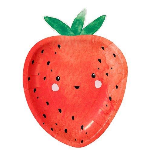 Jordbær tallerken__ Børnefødselsdag_ temafest_Detvier
