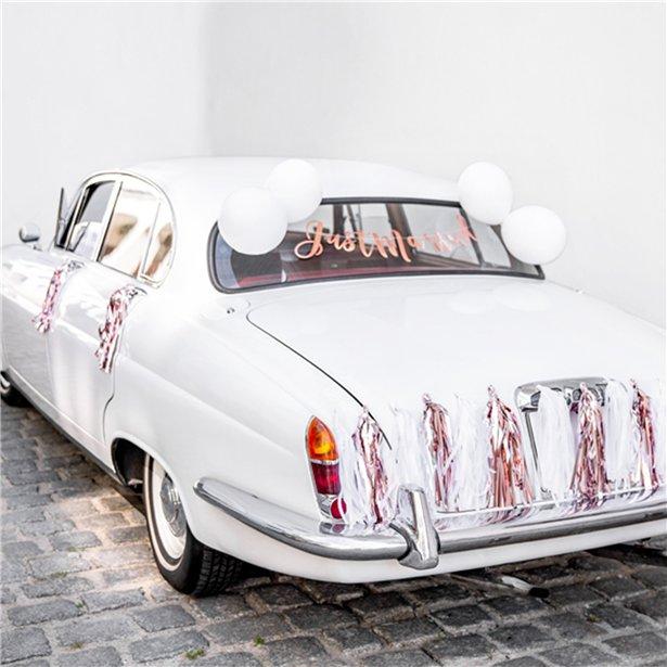Bil pynt til Brudeparrets bil
